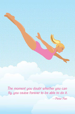 female doll falling from sky poster with text
