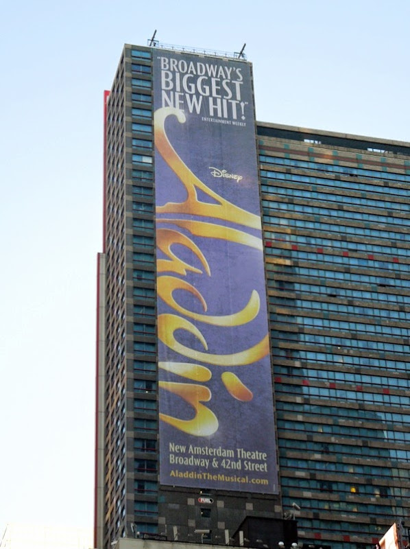 Disney Aladdin musical billboard Times Square