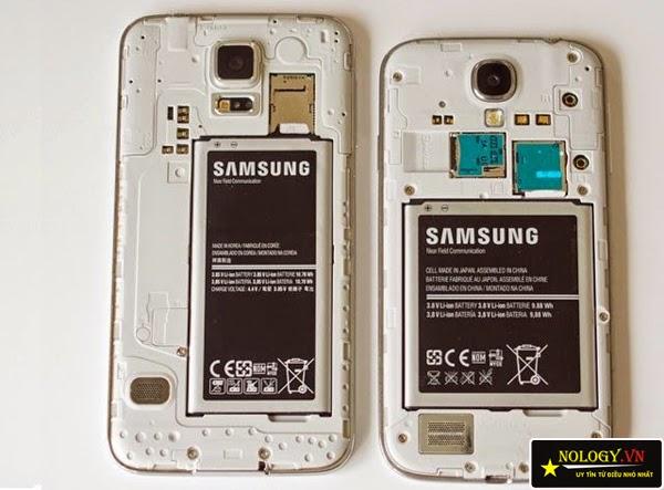 So sánh giữa Galaxy S5 và S4.
