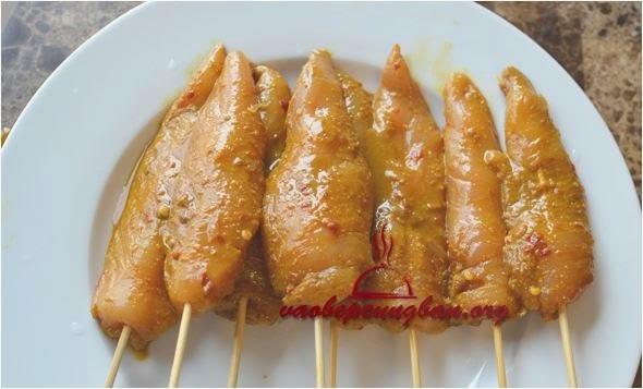 Thịt gà xiên que nướng vị Thái thơm ngon lạ miệng 3