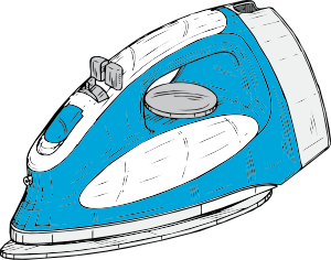 blue ad white iron clip art