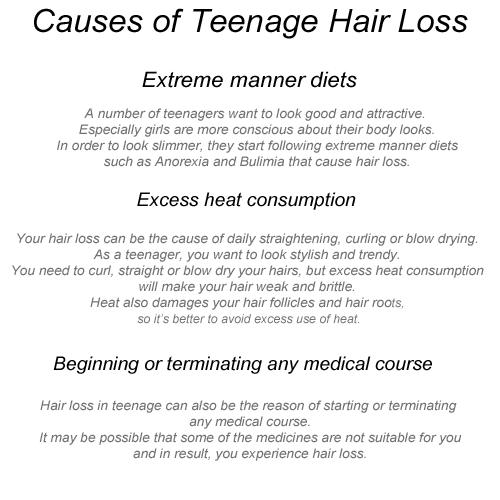 Causes For Teenage Hair Loss