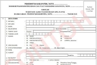 Download Formulir Pendataan e-PUPNS Tahun 2015