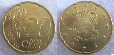 finland 20 cent 2002