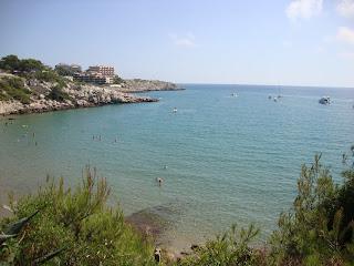 Crystal Clear Water beautiful Beach - Tarragona -Spain