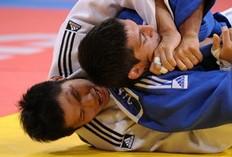 El koreà Jae-Bum Kim en un moment de la competició