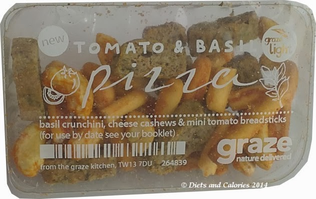 Graze snack box tomato and basil pizza