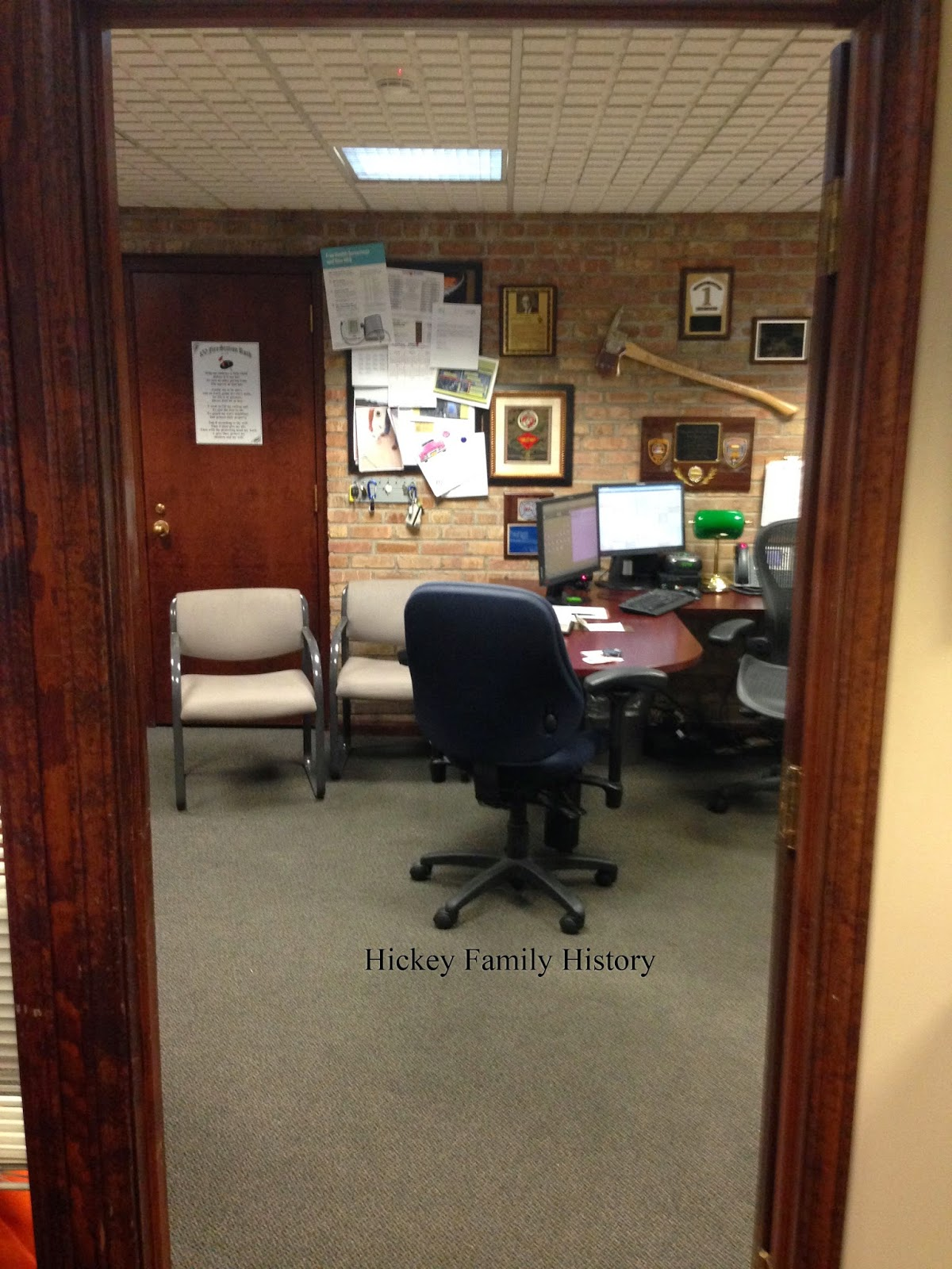 The captain's office has a photograph of Brother Borromeo (Thomas) Malley,  C.S.C. (1913-1994), the fire chief of the Note Dame Fire Department from  1939 to ... - August 2014: Photo Tour Of The Notre Dame Fire Station Tom And