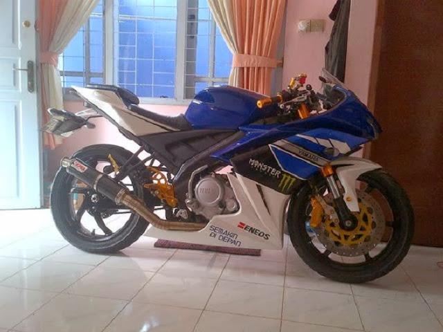 Modifikasi Yamaha Vixion 2012 Moge Sport
