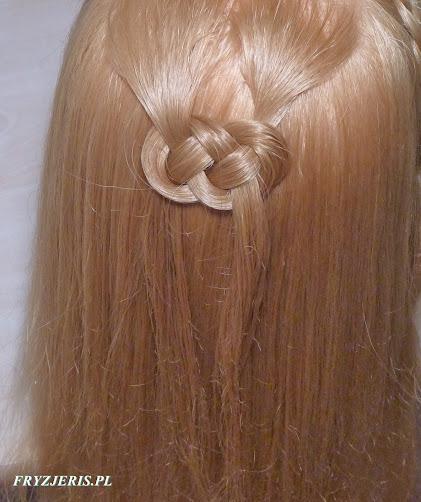 Ozdobny splot z włosów - film - zdjęcie