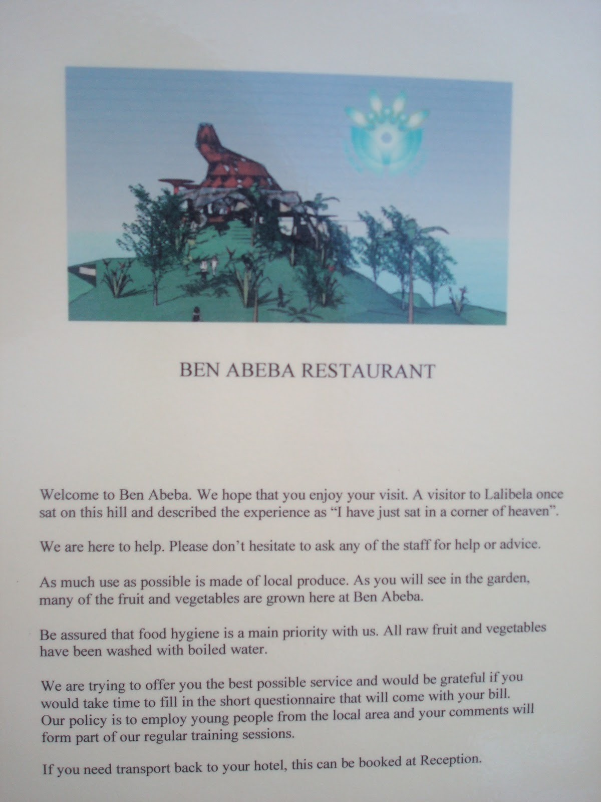 the must restaurant ben abeba in lalibela allaboutaddis a welcome address featuring the picture