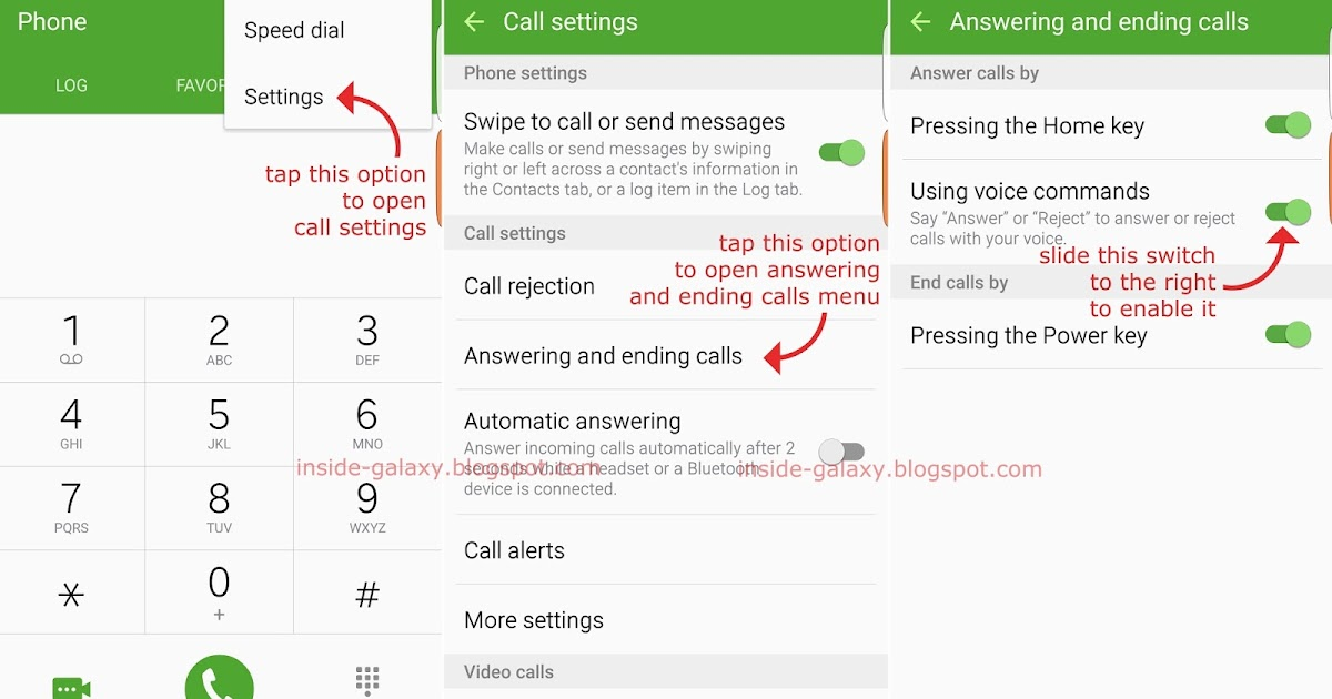 Inside Galaxy Samsung Galaxy S6 Edge How To Answer Or