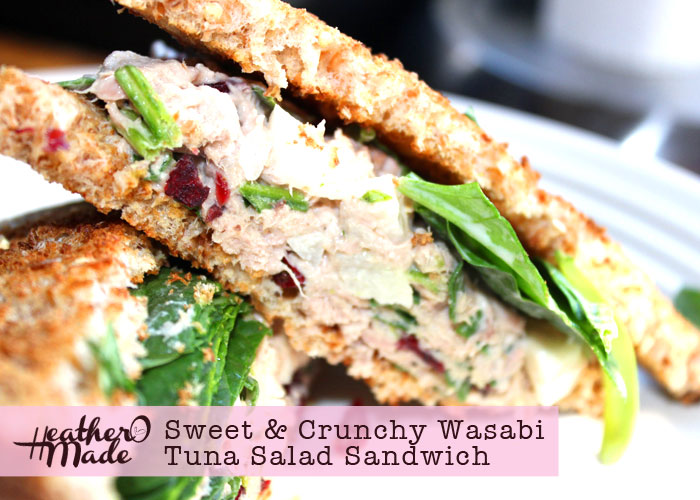 sweet and crunchy wasabi salad sandwiches. recipe, how-to, lunch.