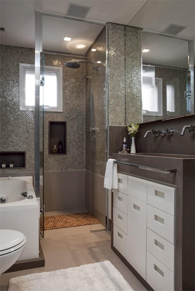 Banheiros pequenos e bem aproveitados -> Largura Nicho Banheiro