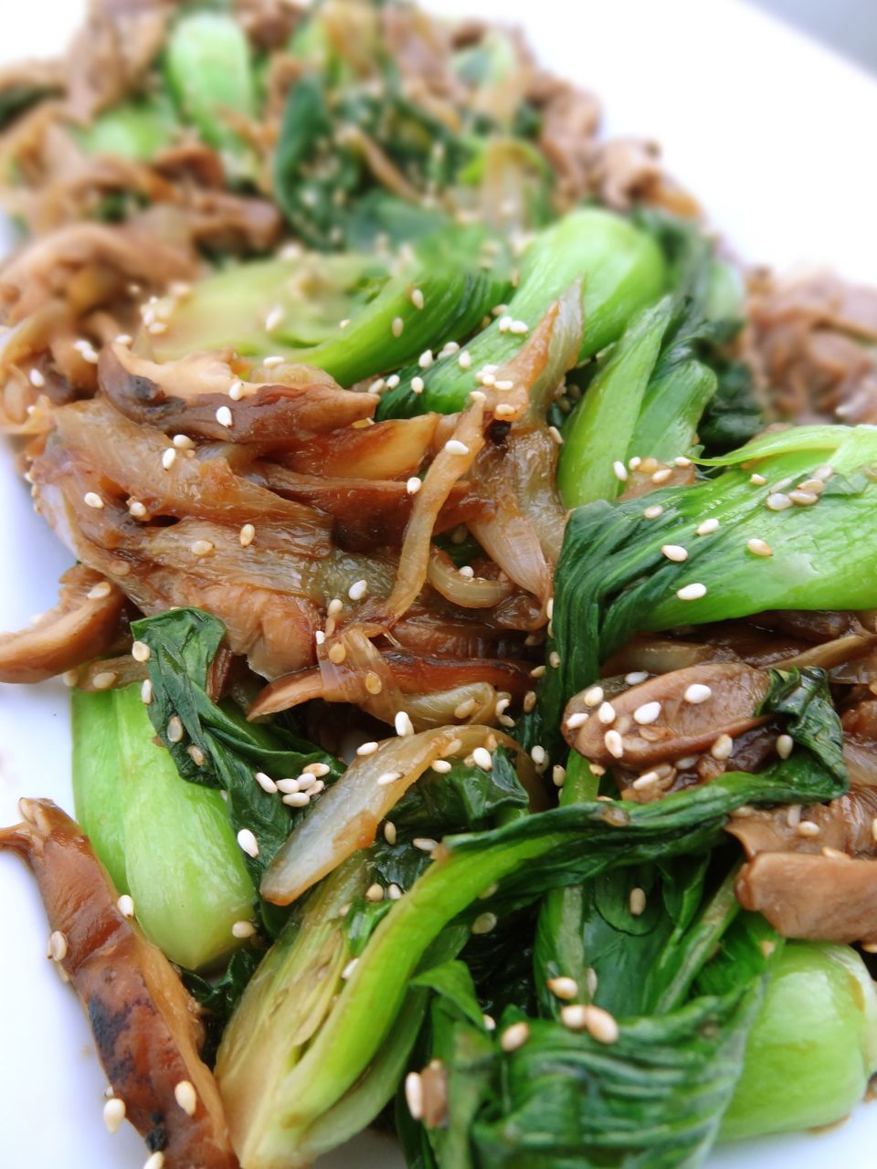 bok choy seared baby bok choy with tofu shiitakes baby bok choy with ...