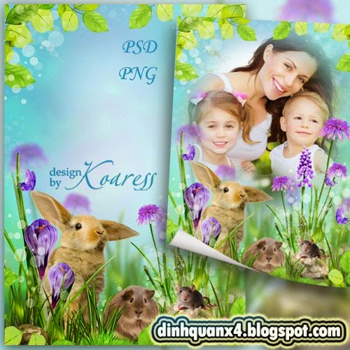 Childrens photo frame - Furry inhabitants of the forest glades