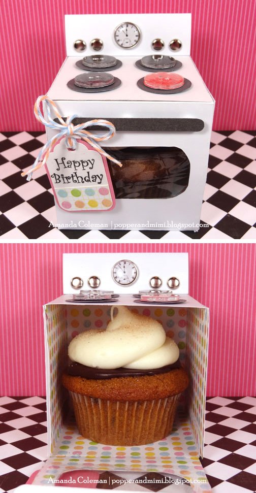 DIY Oven Cupcake Box | popperandmimi.com