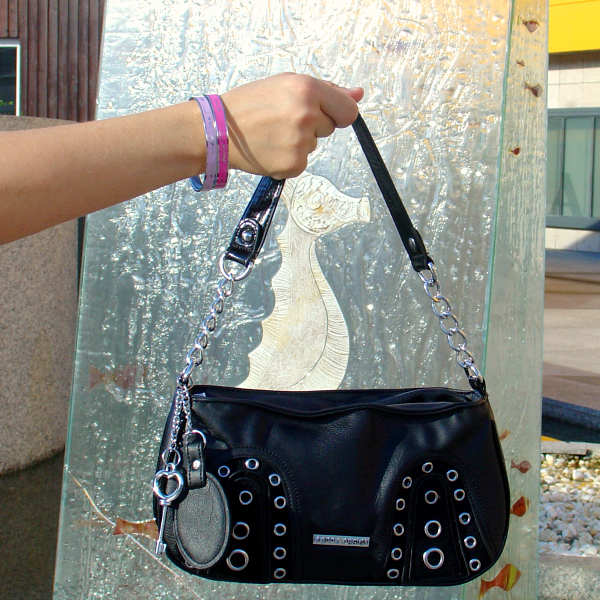 OOTD studded bag. Visit www.forarealwoman.com  #fashion #blogger