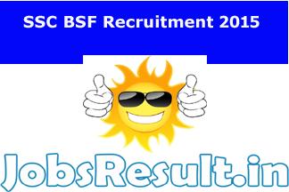 SSC BSF Recruitment 2015