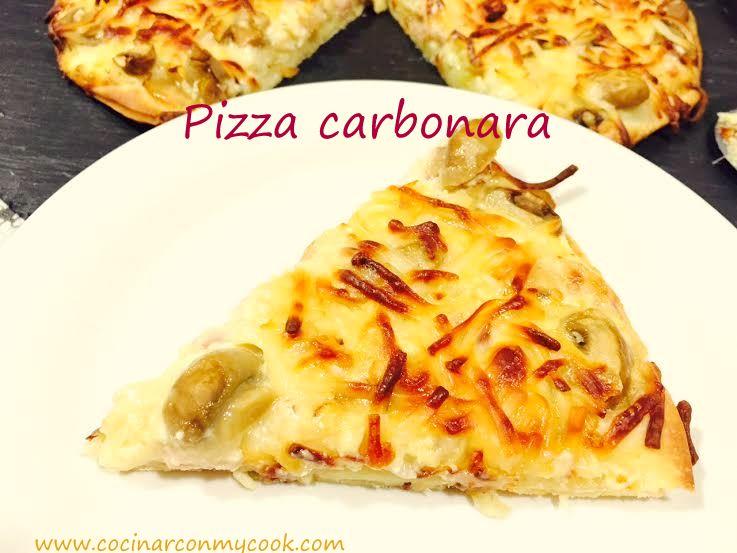 Cocinar con mycook pizza carbonara - Pizza mycook ...