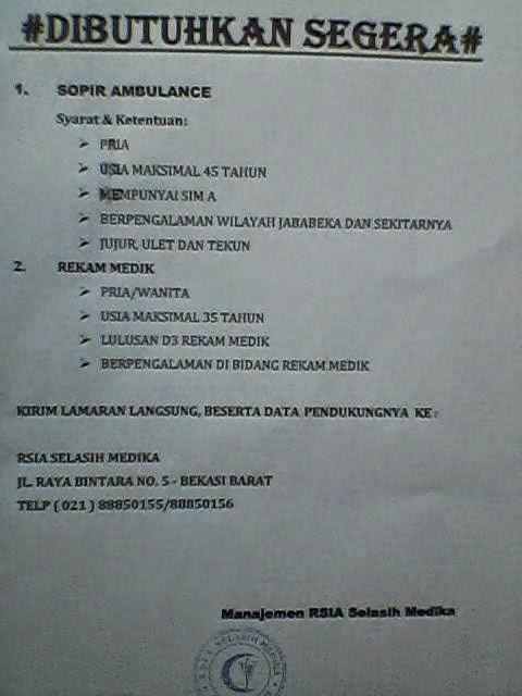 "img src=""Image URL"" title=""RSIA Selasih Medika"" alt=""Lowongan RSIA Selasih Medika""/>"