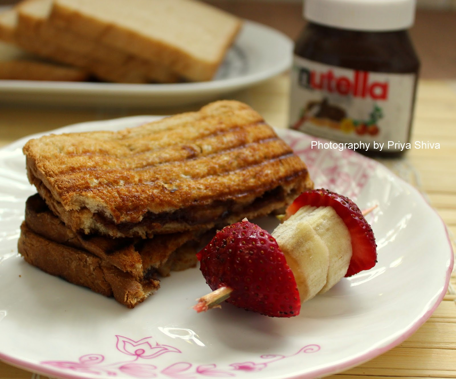 ... sandwich or perfect for lunch like the nutella banana sandwich