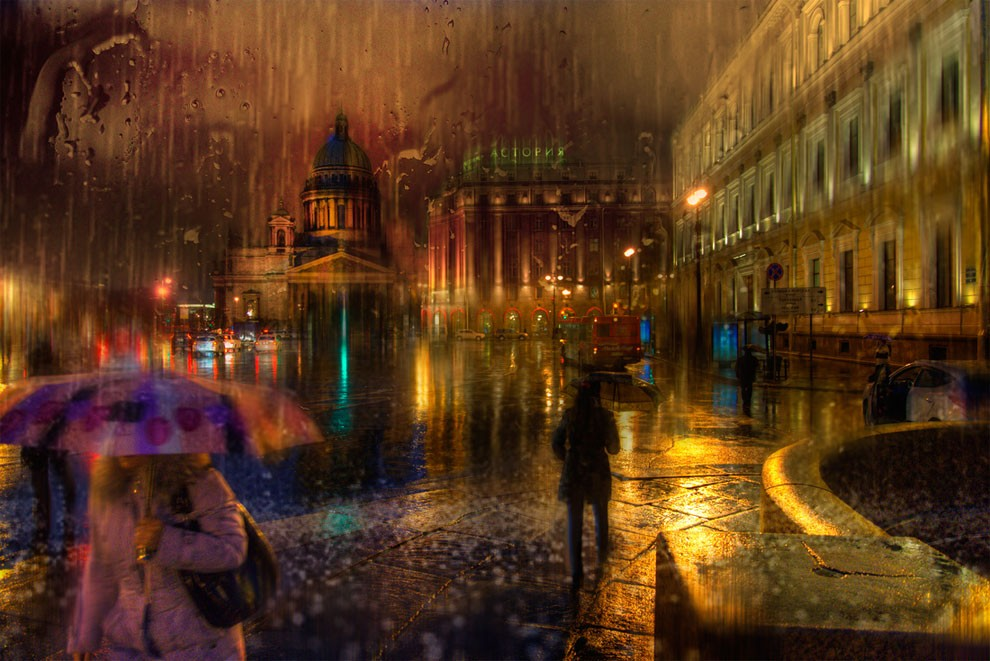 14-Eduard-Gordeev-Гордеев-Эдуард-Photographs-in-the-Rain-that-look-like-Oil-Paintings-www-designstack-co