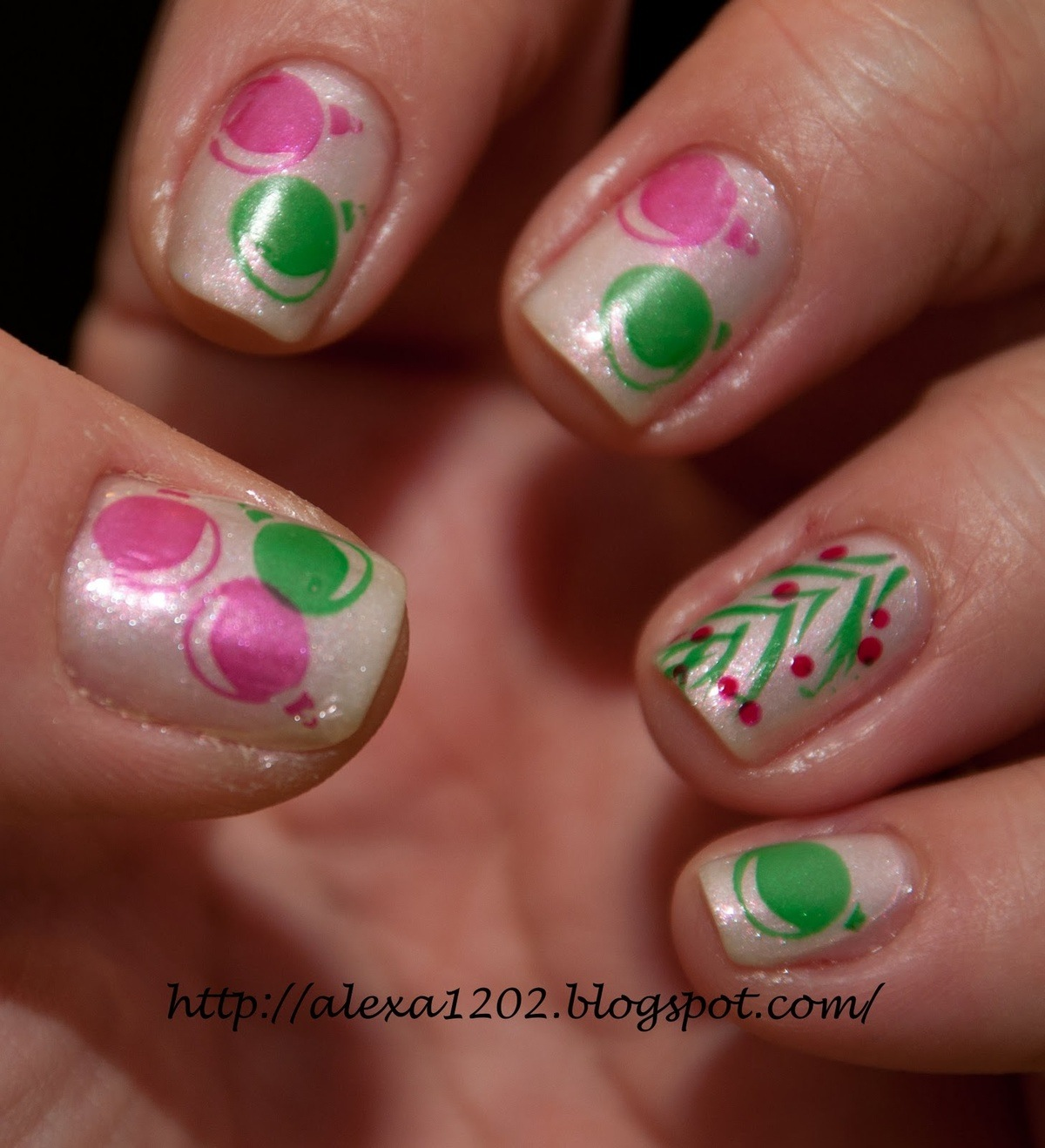 Todo unhas dise o de u as navide as for Disenos de unas 2012