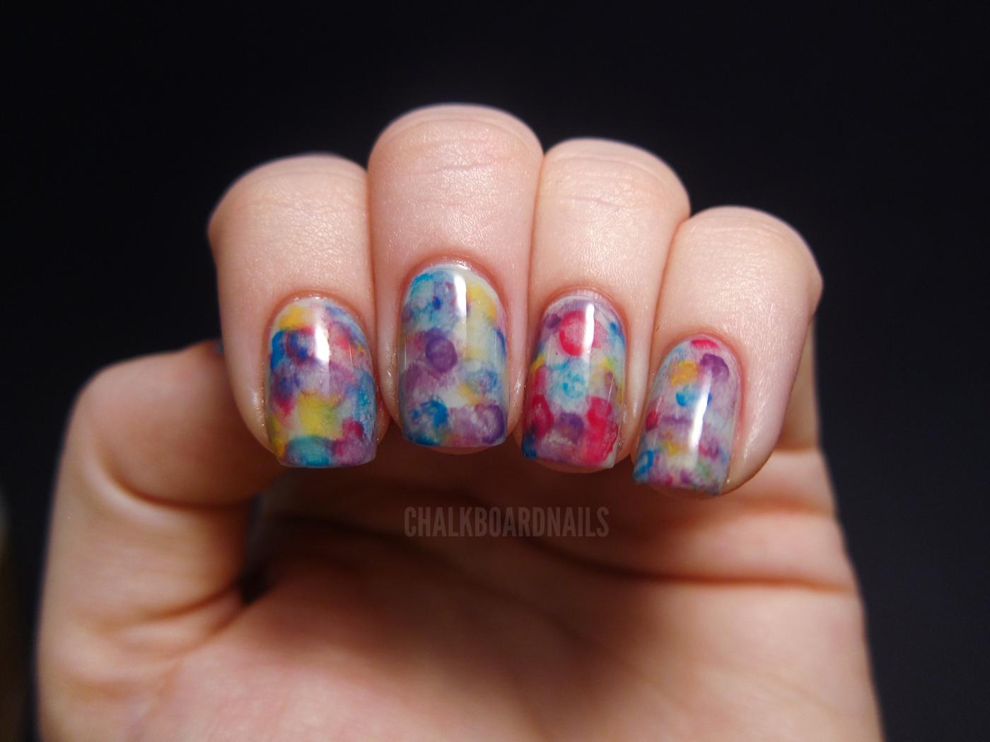 Watercolor Nails | Chalkboard Nails | Nail Art Blog