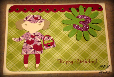 She Said That Her Granddaughter Was Turning 3 This Year And Wanted To Give A Special Card Granddaughters Favorite Color Is Purple So Here