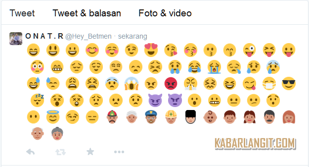 Cara Membuat Emoticon di Twitter