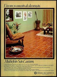 propaganda  cerâmica São Caetano - 1977; os anos 70; propaganda na década de 70; Brazil in the 70s, história anos 70; Oswaldo Hernandez;