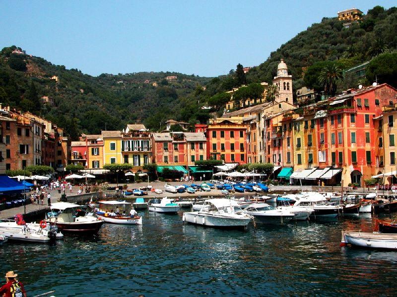 Tiny towns Portofino, Italy
