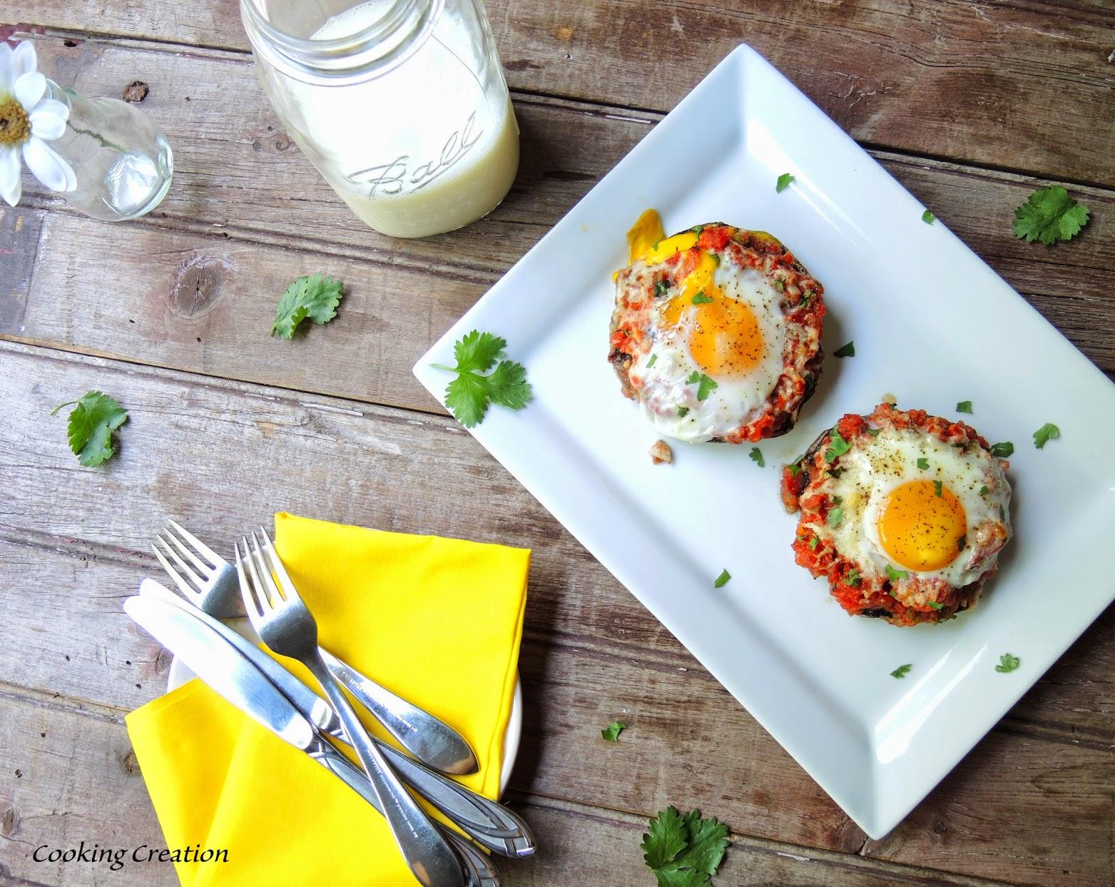 ... Creation: Southwestern Stuffed Portobello Mushrooms for Breakfast