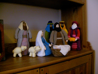 Jean Greenhowe, knitting, nativity, knitted