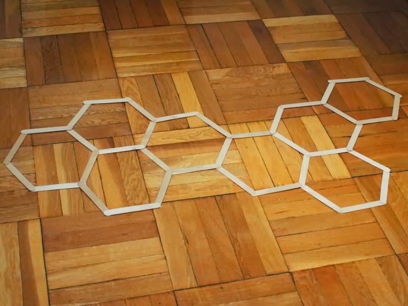 Diy Honeycomb Hexagon Popsicle Stick Wall Art Pink Stripey Socks