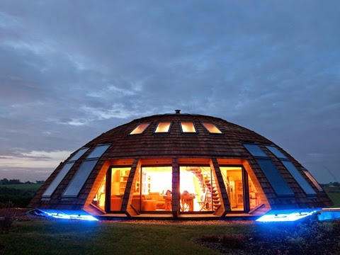 ... Like A Flying Saucer. Amazing House Serves As An Art Installation  Designed In 1988 By Patric Marsili. Dome Home Made Of FSC Certified Wood  Featured ...