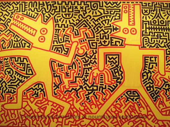 Super Exposition : Keith Haring, the political line ~ Nourritures en  AO11