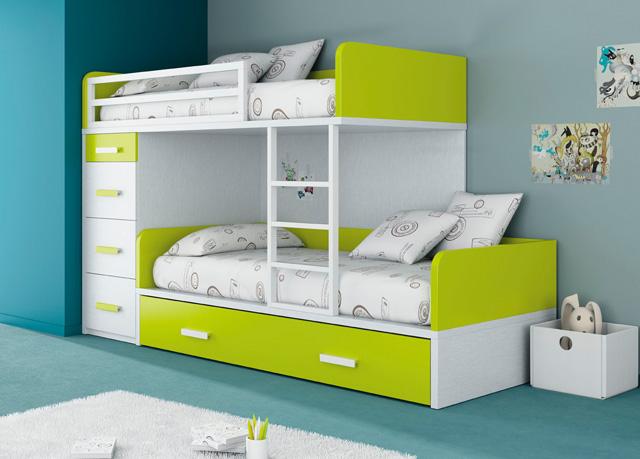 Cuartos juveniles para ni os y ni as - Dormitorios con literas para ninos ...