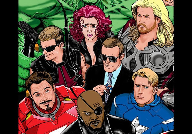 Cinematic Avengers Assembled by Kevin Maguire