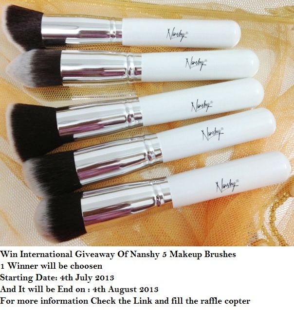 Win International Giveaway Of 5 Nanshy Makeup Brushes