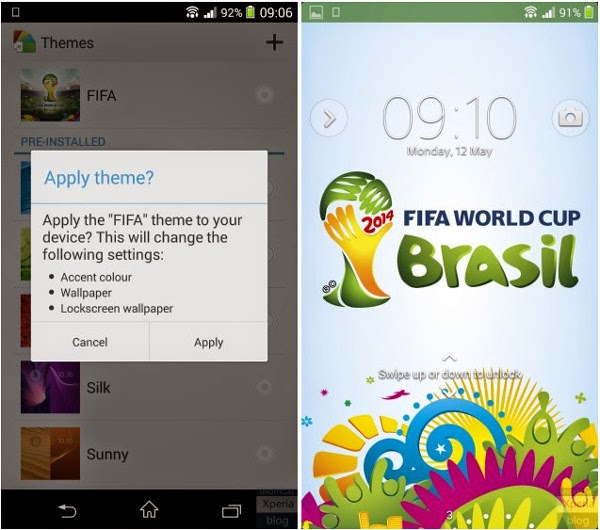 Official World Cup 2014 Theme Sony Xperia