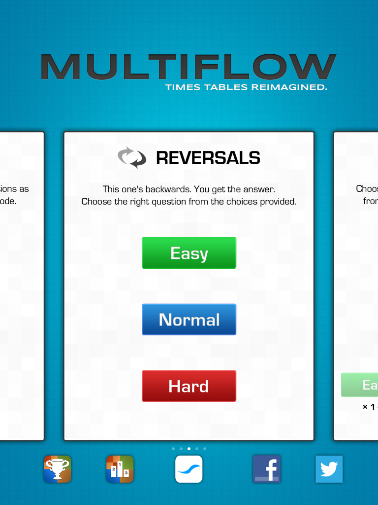 Tech Edventures: Free App for Now: Multiflow, a Math Fact app (part ...