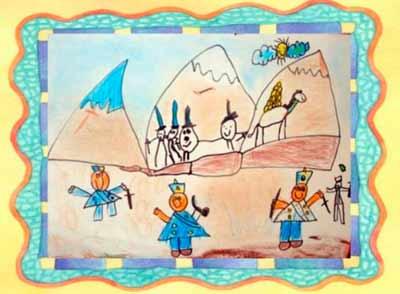 Cruce de los Andes.Dibujo de niños