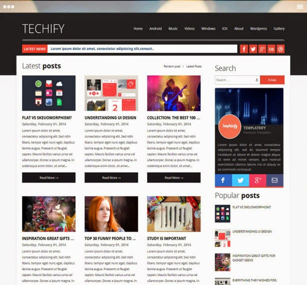 TECHIFY MAGAZINE RESPONSIVE BLOGGER TEMPLATE