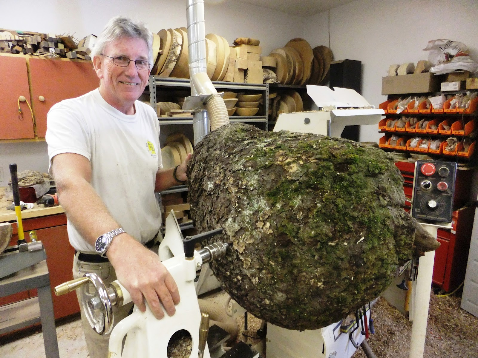 how to cut a burl