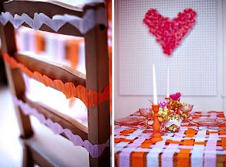Mesa p/Dia dos Namorados - cadeira decorada