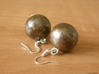 biżuteria - brązowo złote korale