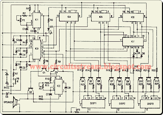 Digital Electronic Slot Machine    Wiring       diagram    Schematic