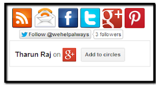 google plus follower widget to your blog